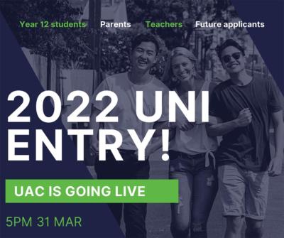 2022 uni entry livestream